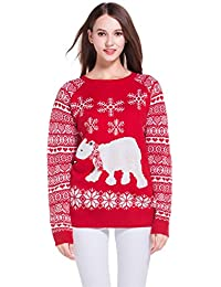 Women's Christmas Cute Snowflakes Knitted Sweater Girl Pullover