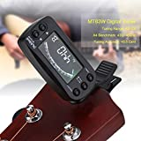 Tuner Metronome, Portable 2 in 1 Clip-on LCD Digital Tuner & Metronome for Guitar Bass Violin Ukulele String Instrument