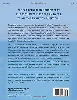 Amazon com: Pilot's Handbook of Aeronautical Knowledge