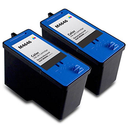 Purpplex Remanufactured Ink Cartridge Replacement for Dell [Series 5] M4646 Color Ink Cartridge for 946 962 964 Inkjet Printer ( 2 Color )
