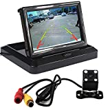 5inch TFT16:9 High definition panel LCD Monitor and waterproof car rear view camera assembly,backup rear view camera and LCD monitor parking system For Sale