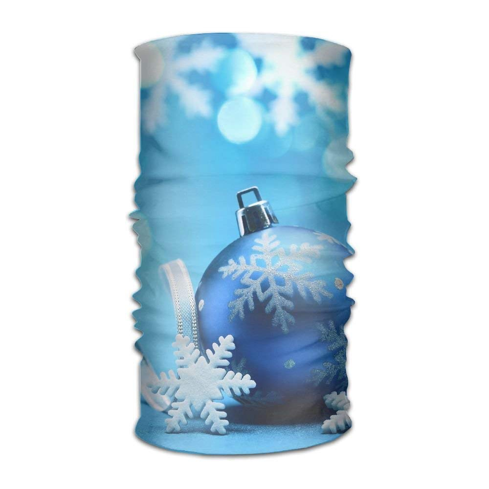 Blue Snowflake Christmas Bauble Unisex Fashion Quick-drying Microfiber Headdress Outdoor Magic Scarf Neck Neck Scarf Hooded Scarf Super Soft Handle