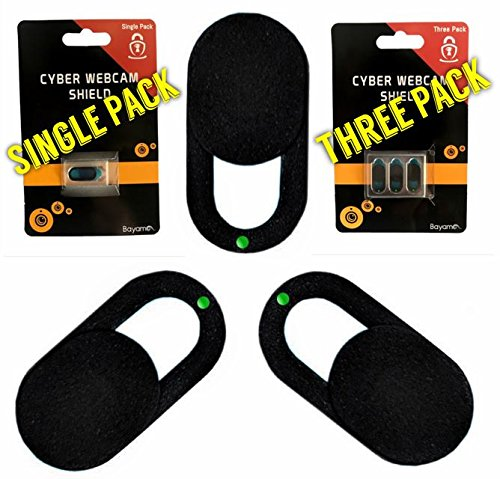 Webcam Cover Slider Set: Premium 3-Pack Ultra Thin Camera Security Cover for Privacy Protection (Sturdy, Easy Slide & Use Webcam Shield for Laptop, Smartphone, iPhone, PC) Great Gifting (Mobile Notebook Security Cart)