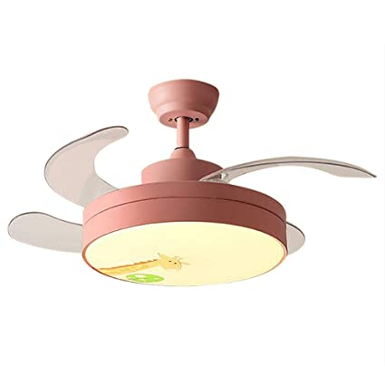 Huston Fan Kid Cartoon Ceiling Fan Light with 4 Retractable ...
