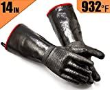 RAPICCA Griller Heat Resistant Insulated Cooking Gloves for Barbecue/Grill/Smoker/Fry Turkey/Oven mitt/Baking, waterproof with Textured Palms