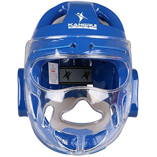 Karate MMA boxing sanda taekwondo muay thai Sparring Head Gear saco de boxeo kickBoxing helmet face protection helmet - red blue