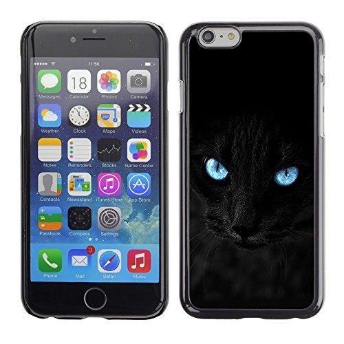 TopCaseStore / caoutchouc Hard Case Housse de protection la Peau - Black Siamese Cat Panther Eyes Pet Feline - Apple iPhone 6 Plus 5.5
