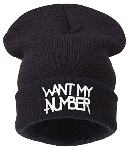4soldherren Gorro de punto negro negro universal Negro schwarz - Peace Love Money ( black ) want my number