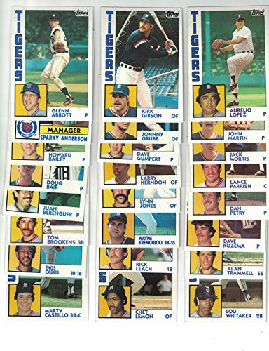 (Detroit Tigers/Complete 1984 Topps Detroit Tigers Baseball Master Team Set (37 Cards) with Jack Morris, Alan Trammell, Lou Whitaker and More. World Series Champs!)