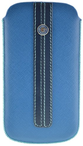 Galeli G-IP5S-10 Luxury Lifestyle Case für Apple iPhone 5 blau/blau saffiano