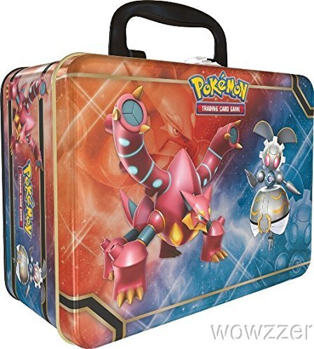 Pokemon TCG Collector Chest Lunchbox Tin 2016 Sealed Featuring Volcanion, Magearna, and Shiny Mega Gengar-EX! by Yu-Gi-Oh! (Shiny Tin)
