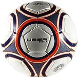 Uber Soccer Regulation Size and Weight Indoor Futsal Soccer Ball - Navy Orange - Size 3