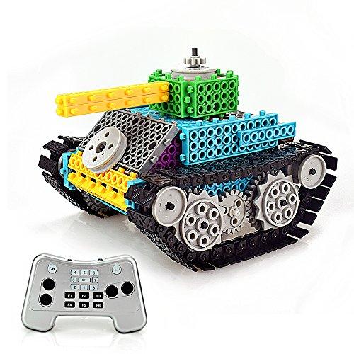 Remote Control Building Blocks, AMGlobal 145 Pcs Remote Control Building Kits, Remote Control Machine, Remote Control Tank Construction SetDIY Robot for Kids Children For - Diy Tank