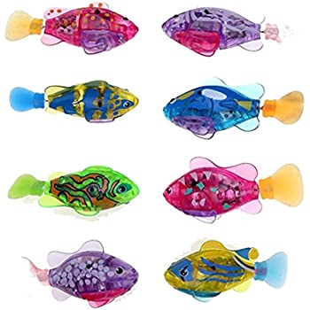 Asatr Electronic Pets Toy Robot Fish Swimming Diving Electric Turbot Clownfish for Children Kids