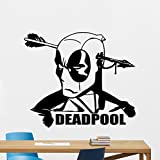 Deadpool Wall Decal Marvel Comics Superhero Movie Vinyl Sticker Cinema Deadpool Superhero Wall Art Design Housewares Kids Room Bedroom Decor Removable Wall Mural 107zzz