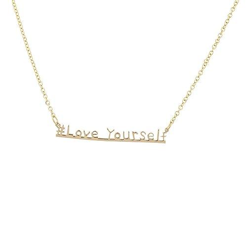lucentezza adorabile super speciali selezione speciale di Lux Accessories - Collana da donna e ragazza, con scritta ...