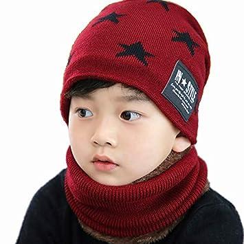 CHIRORO niños Gorro Sombrero Conjunto de Bufanda de Invierno ...