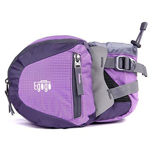 EGOGO Travel Sport Waist Pack Fanny Pack Hiking Bag with Water Bottle Holder (Purple) (Fanny Pack With Bottle Holder)