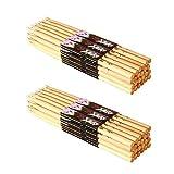 On-Stage Wood Tip Maple Wood 5A Drumsticks 24-Pairs