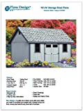 gable roof design Do-it-Yourself Patterns, Storage Shed Plans 16' x 16' Reverse Gable Roof Style Design # D1616G