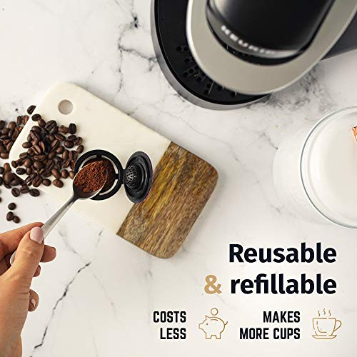 Reusable K Cups For Keurig 2.0 & 1.0 Brewers Universal Fit For Easy To Use Refillable Single Cup Coffee Filters - Eco Friendly Stainless Steel Mesh Filter (Pack of 4) - smallkitchenideas.us