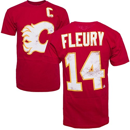 Old Time Hockey Stanley Cup (Old Time Hockey Calgary Flames Theo Fleury Vintage NHL Alumni T-Shirt - 2XL)