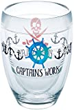 Tervis 1252458 Work Like a Captain Tumbler with Wrap 9oz Stemless Wine Glass, Clear