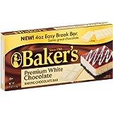 Baker's Premium White Chocolate Baking Chocolate Bar, 4 Oz