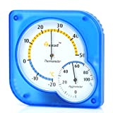 Traditional Indoor Thermometer & Hygrometer Humidity Temperature...
