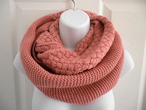 Pink_Neck warmer scarf Infinity scarf long Shawl circle (US Seller)