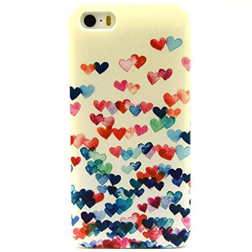 Iphone 5 Case, Jaholan Mint Smile Love Clear Bumper TPU Soft Case Rubber Silicone Skin Cover for iphone 5S