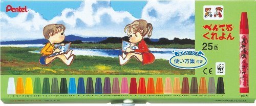 25 how to use color collection with PTCR-25 Pentel crayons (japan import) Pentel Crayons