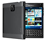 TUDIA Ultra Slim LITE TPU Bumper Protective Case for BlackBerry Passport [Not Compatible with Silver Edition or AT&T Version] (Black)