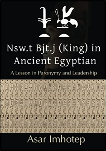 Nsw.t Bjt.j (King) In Ancient Egyptian: A lesson in paronymy and ...