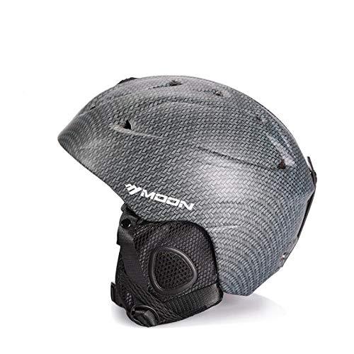 DSstyles Skiing Helmets Unisex Ski Helmet Ultralight Integrally-Molded Professional Snowboard Skateboard Helmet Braided Carbon Fiber -