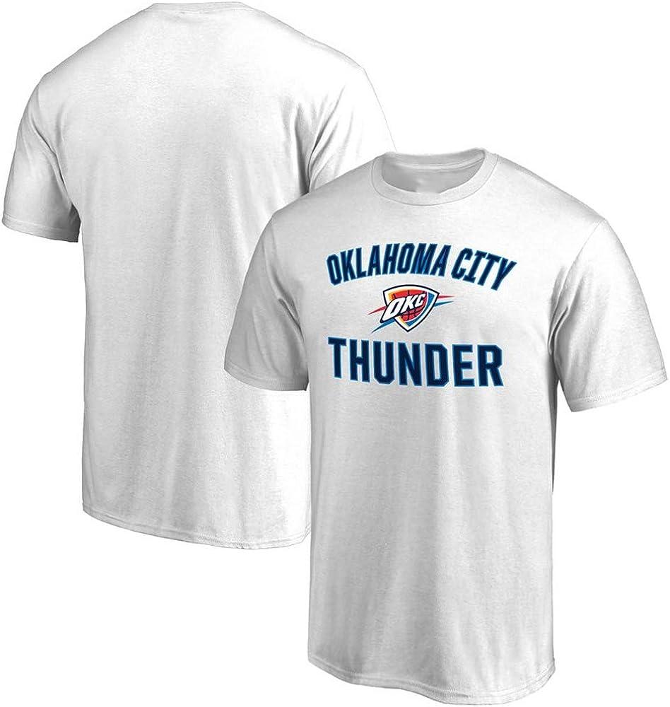 Camiseta NBA Oklahoma City Thunder Cómodo Aficionado al Baloncesto ...