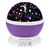 Happy Hours - Muti Color Romantic Room LED Night Light Rotating Projector, Mood Light, Decorative Light for Kid Bedroom, Valentine's / Christmas Gift(Purple Blue)