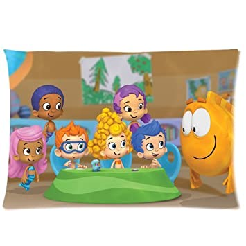 Bubble Guppies Pillowcase Standard Size 20 quot x30 quot  PWC1017. Amazon com  Bubble Guppies Pillowcase Standard Size 20 x30