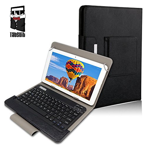 Tabsuit 8'' Keyboard Case - Ultra Slim SmartShell Stand Cover with Magnetically Detachable Wireless Bluetooth Keyboard for Dragon Touch 8 inch Tablet and more 8'' Tablet PC