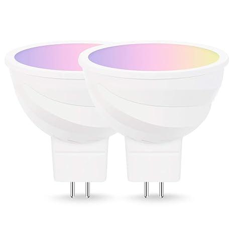 LOHAS WIFI Bombilla led MR16, 5W=50W LED luz, control por voz a