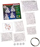 Beadery Holiday Beaded Ornament Kit, 4-Inch, Caroling Angels, Makes 4 Ornaments