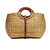 Designer Inspired Trunk Rattan Bag