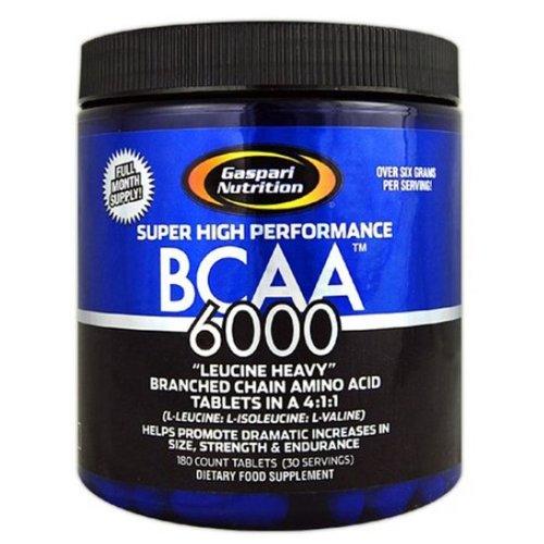 Gaspari Nutrition 6000 BCAA Comprimés, 180 Count