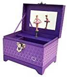 My Tiny Treasures Box Co. Heart Ballerina Music Box - Purple