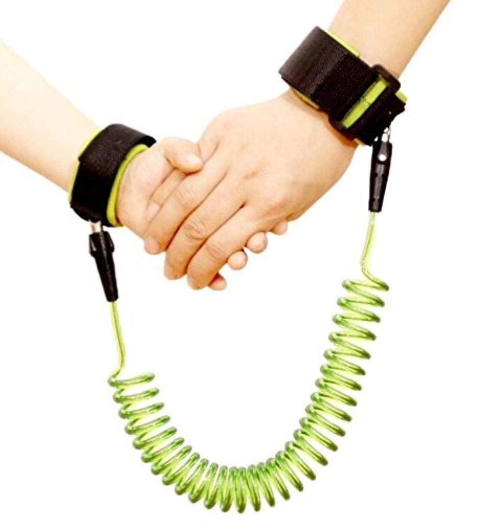 Baby Child Anti Lost Safety Wrist Link Harness Strap Rope Leash Walking Hand Belt for Toddlers, Kids (Color : Green, Size : 1.5 m)