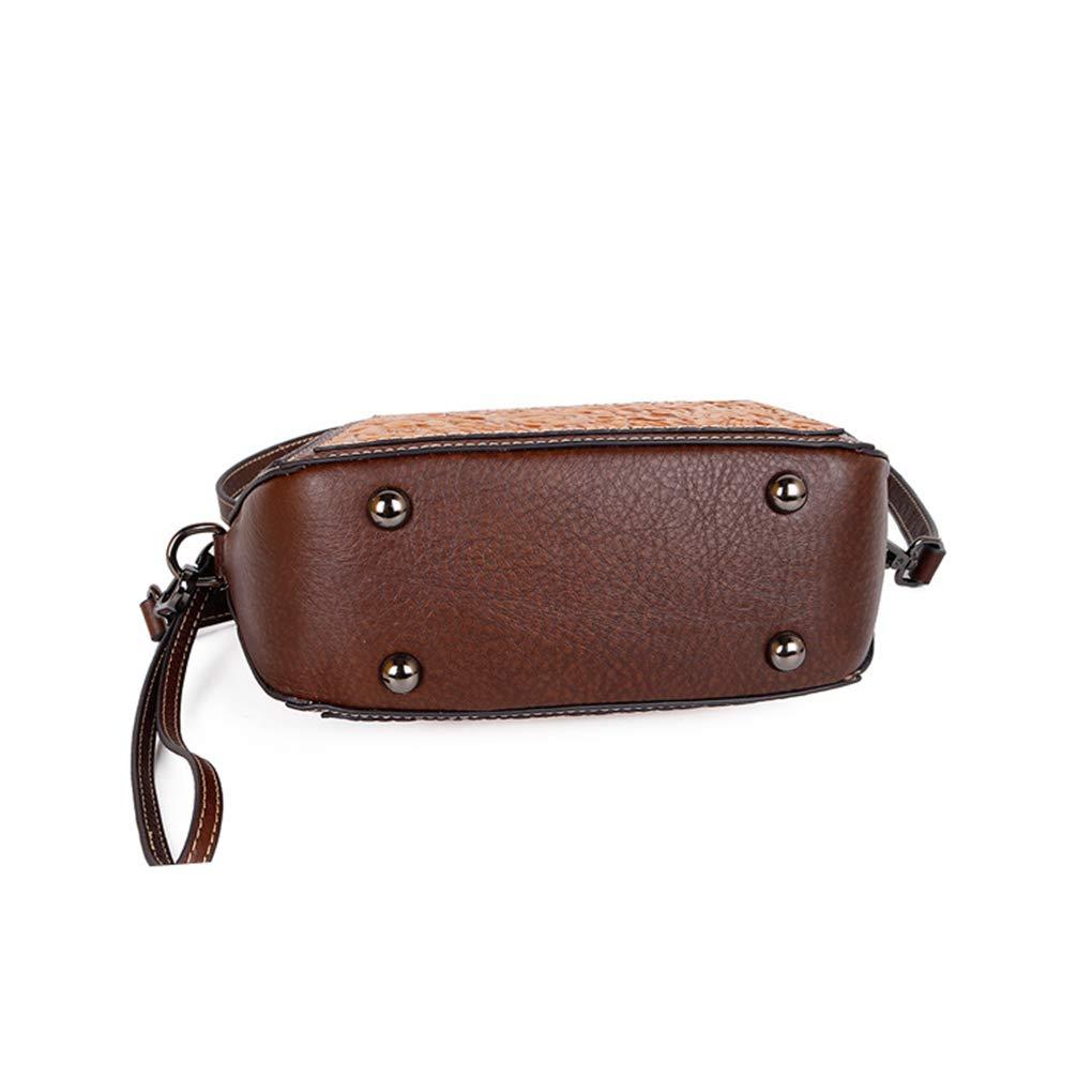 shengweiao crossbody väska för kvinnor liten läder messengerväska Red Gery
