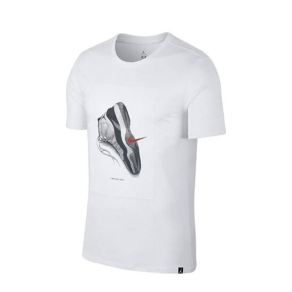 Nike 914459 Cnxn En Tissu Tee Jordan Homme Air Aj11 Blanc Shirt Pour 80ONwnvm