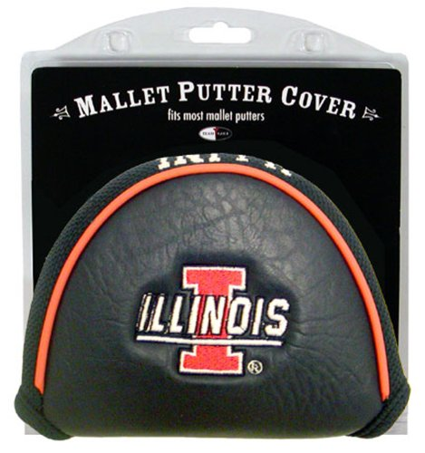 Team Golf NCAA Illinois Fighting Illini Golf Club Mallet Putter Headcover, Fits Most Mallet Putters, Scotty Cameron, Daddy Long Legs, Taylormade, Odyssey, Titleist, Ping, ()