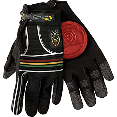 Sector 9 BHNC Slide Gloves L/Xl - Rasta : Skate And Skateboarding Wrist Guards : Sports & Outdoors