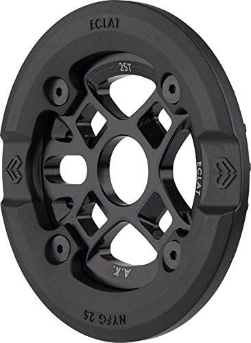 Eclat AK Guard Alex Kennedy Signature Bolt Drive Sprocket w Replaceable Nylon/Fiberglass Guard 25T 24mm/22mm/19mm Black